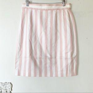 Escada Striped Pencil Skirt